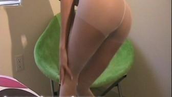Hot amateur girl in pantyhose