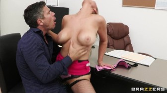 Big-boobed office executive Abbey Brooks fucks her new employee