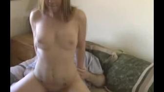 Amateur Blonde Tag Teamed in Motel