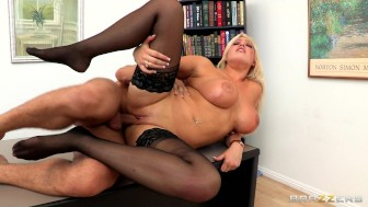Incredibly HOT big-tit blonde boss Dayna Vandetta fucks employee