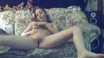 Naughty girl shows off and masturbates