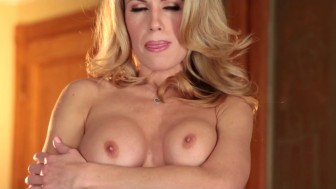 Big-booty big-tit blonde Randy Moore fingers herself up-close