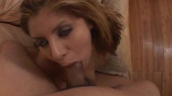 her first deepthroat job