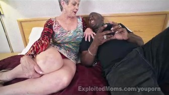 Mature Lady in Creampie Interracial Video