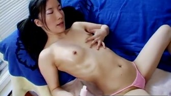Pretty Asian Plays With Toys And Lubes Herself Up