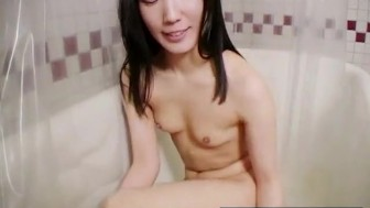 Asian Girl Gets Clean And Gets Ready To Get Dirty