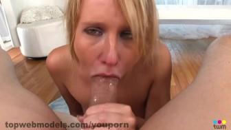 Blonde Babe POV DeepThroat
