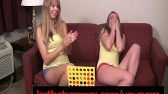 Ashton and Mia Play Strip Four In A Row