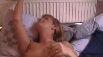 Horny blonde gives head and fucks