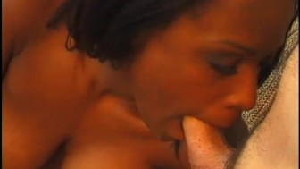 Two hot ebony babes get started without him - Notorious