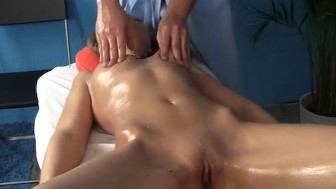 Sexy girl owned hard after massage