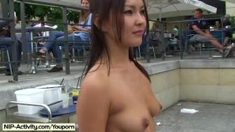 Crazy czech babes naked on public streets