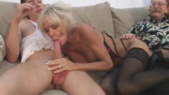 Older Mommy Seduces Young Guy With Hubby