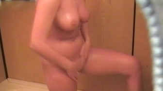 Blond Shower Spy