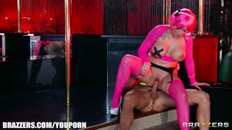 Big-tit pink goth girl is fucked fast and rough by a big-cock