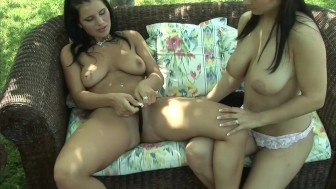 Pussy Play on the Patio - CzechSuperStars
