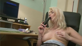 Busty Blonde Plays With Her Pussy - Julia Reaves