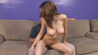 Exotic Teen's Mouth Filled By Older Guy