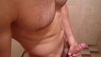 Muscle Guy With A Massive Cock