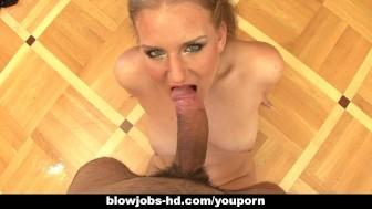 Sexy blond slut giving hot pov blowjob here