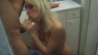 Fucking her tiny asshole at home