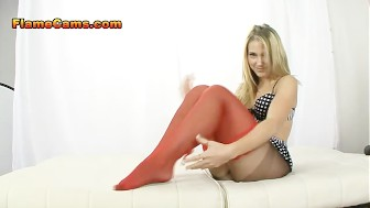 Blonde babe pantyhose fetish