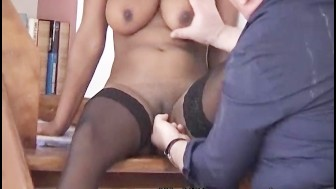 Nervous Indian sucks fat old mans cock
