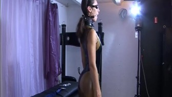 Female in leather submits to master Absurdum Productions
