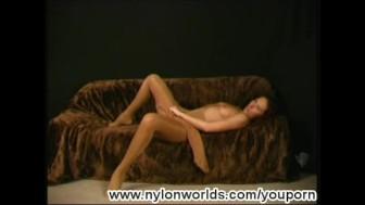 Sexy Roxana posing for Nylonworlds