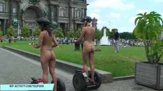 Hot Agnes naked on public streets