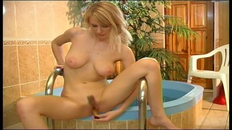 Cute blonde babe uses vibrator - Pleasure Photorama