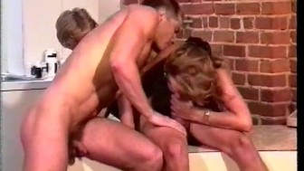 Athletic bisexual threesome - Visual Images