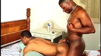Two horny black guys get it on with each other - Black Wolf
