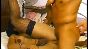 Old sensual shemale has a hot fuck with a gentleman - Boss Film