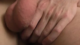Stroking his hard cock - XP Videos