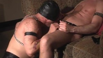 Submissive Masked Man Sucking DIck - Pig Daddy Productions