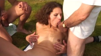 outdoor fun with voyeur papy