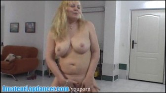 Chubby MILF doing hot lapdance