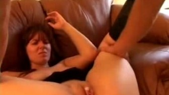 Chunky Sweetie Dildoed,Fucked And Jizzed On