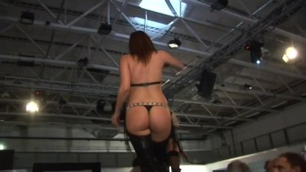 fetish party on sex stage