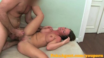 FakeAgent MILF with big nipples and labia needs a good fuck