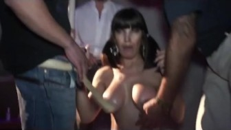 hot party with busty latina