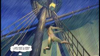 ADVENTURES OF CABIN BOY 3D Gay World Cartoon Comics or Gay Hentai Anime Story