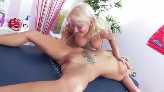 Leya Falcon's Lesbian Massage