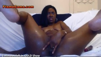 Ebony BBW Cam Girl Gives a Sloppy Show