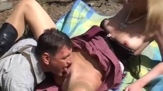 sexy MILF loves anal in the mountains