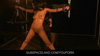 Isabella masturbated and slapped in submission
