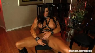 Aziani Iron Angela Salvagno wearing strap-on cock