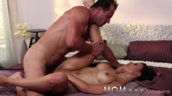 mom brunette milf loves his dick