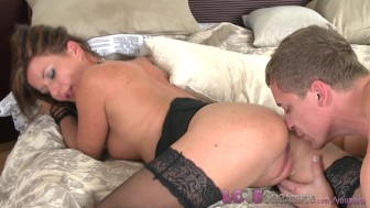 need creampie milf business girl in stockings loves her husband's fat penis